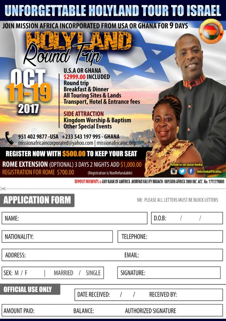 Mission Africa Israel Trips